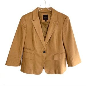 The Limited Cognac Copper Camel Brown Blazer